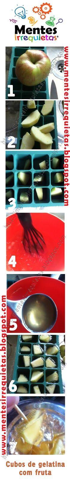 Gelatina com fruta em cuvette de gelo: Fruta Ems, Ems Cuvette, Cuvette De