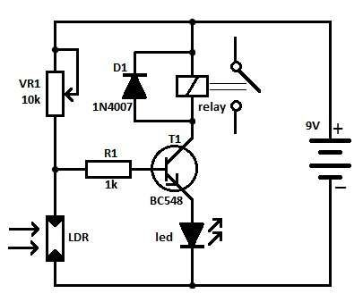 Light Operated Relay Circuit Diagrama Electronico Esquemas Electronicos Proyectos Electronicos