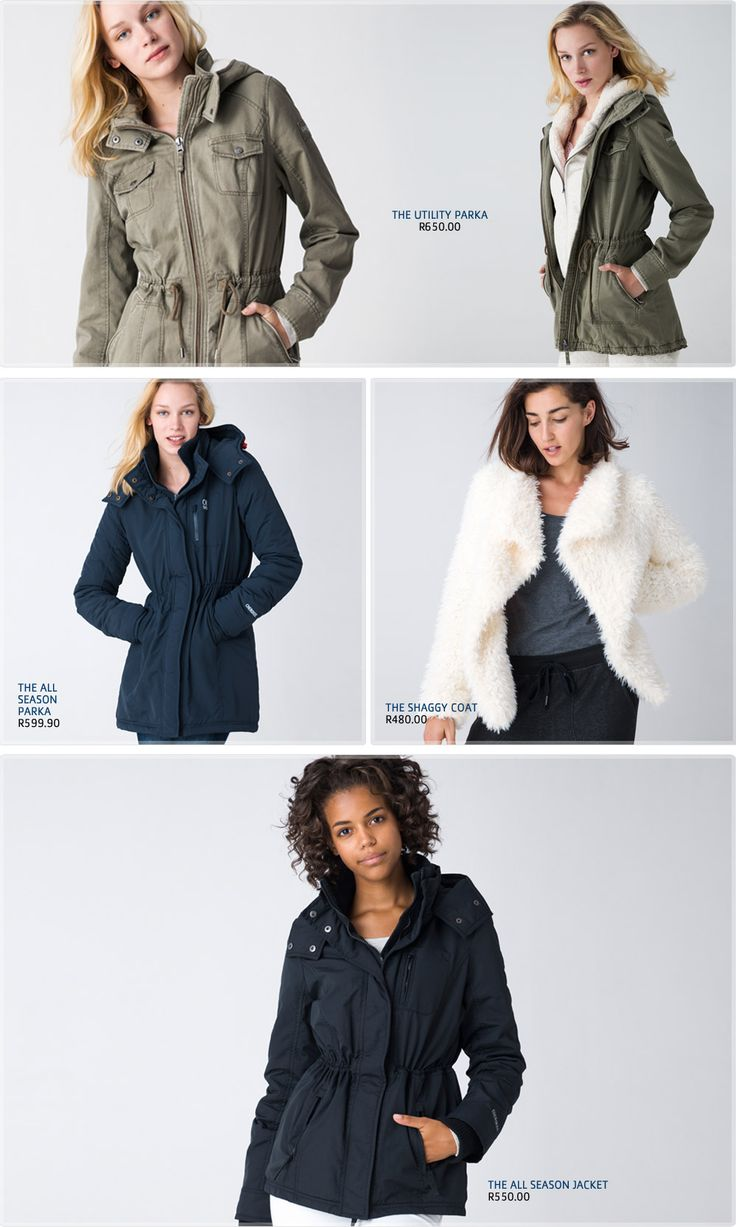 Pick n Pay Clothing Style File | Jackets - Pick n Pay - Winter is apon us, our winter jacketshave extra padding in order to provide extra insulation and keep you nice and warm. Plenty of variety in colours and styles ensuring your personal style and preference is catered for.