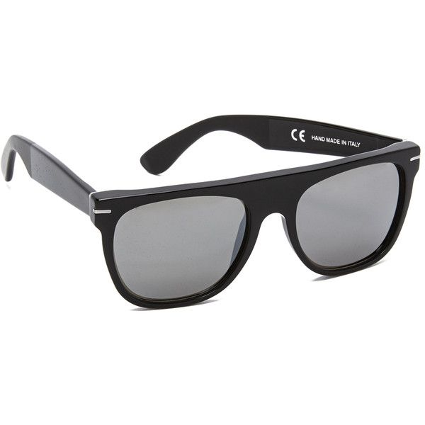 Super Sunglasses Flat Top Triflect Sunglasses ($220) ❤ liked on Polyvore featuring accessories, eyewear, sunglasses, retrosuperfuture glasses, rectangular glasses, retrosuperfuture, retrosuperfuture sunglasses and polarized sunglasses
