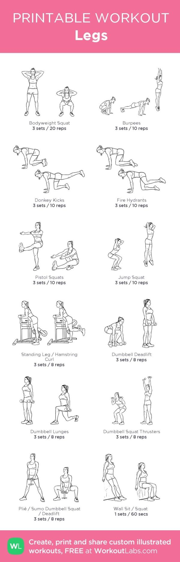 Legs: my custom printable workout by @WorkoutLabs #workoutlabs #customworkout by jeannine