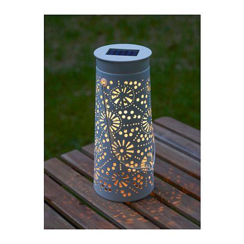 SOLVINDEN LED solcelledr bordlampe, kegleformet hvid kegleformet hvid 30 cm