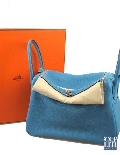 birkin clutch - Brand new from London! Hermes 34cm Lindy Blue Jean Clemence with ...