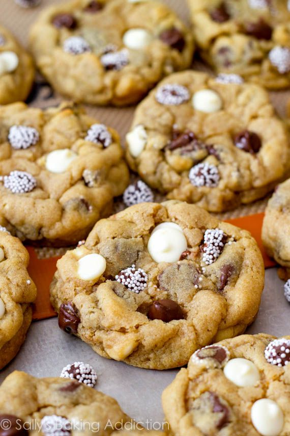 Triple Chocolate Chip Cookies by sallysbakingaddiction.com