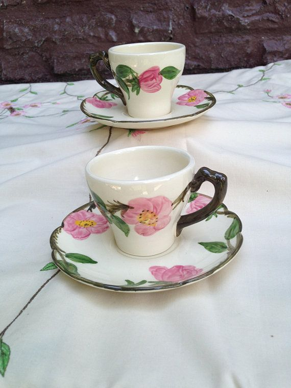 Desert Rose flat demitasse cup