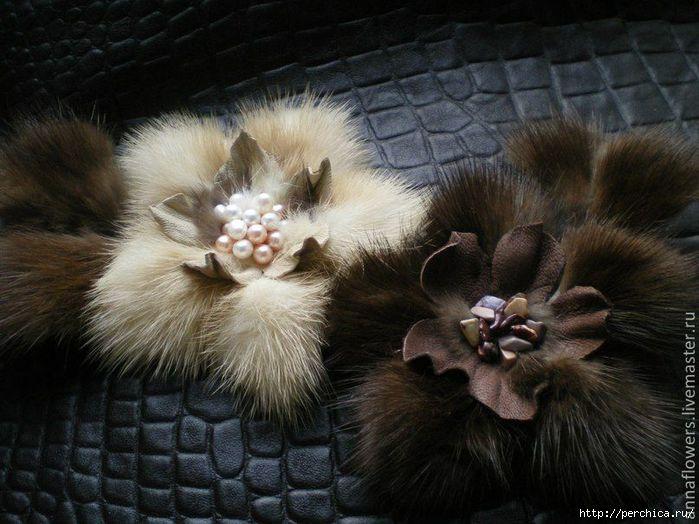 Как сделать цветы из меха - мк