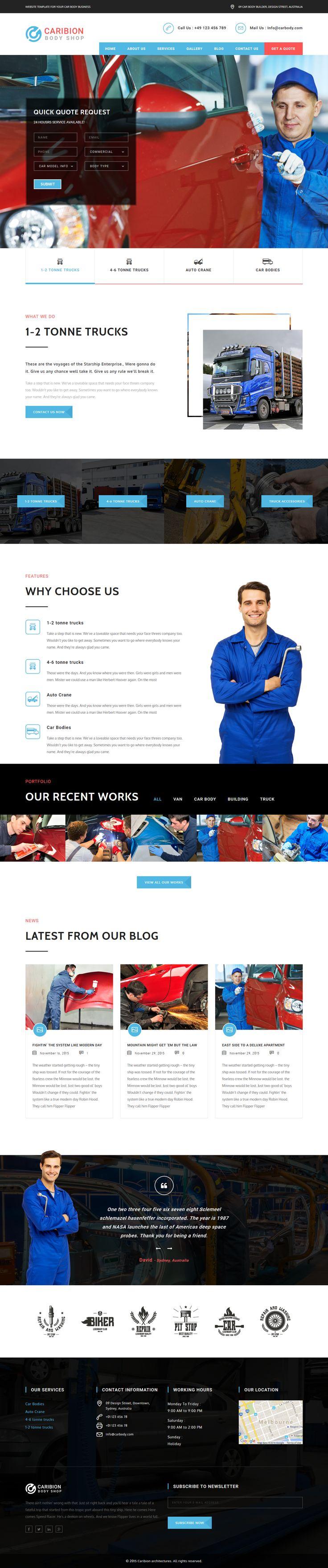 Caribion - Responsive Workshop and repair Wordpress theme