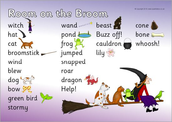 Room on the Broom word mat (SB10027) - SparkleBox