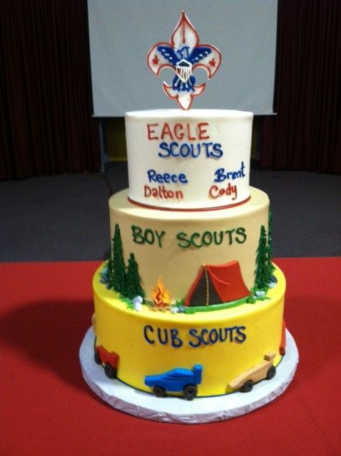 Fantastic Scout cake from tonight's Eagle Court of Honor. Thank you to www.michellespatisserie.com for the perfect design and flavors. http://barbarasbrides.com design
