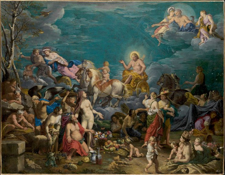 Johann Heiss  (Memmingen 1640-1704 Augsburg)    Triumph of the Sun   and Allegory of the Four Seasons  Signed at bottom left: JHeiß fecit   Oil on canvas, dimensions: 83 x 106 cm.jpg (1200×931)