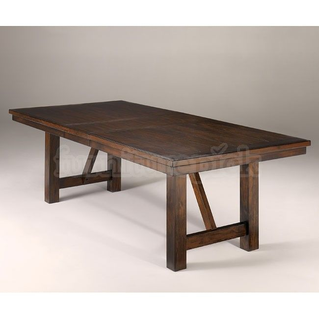 extendable dining room table by signature design by ashley. signature design by ashley - holloway (millennium) rectangular dining room extension table extendable t