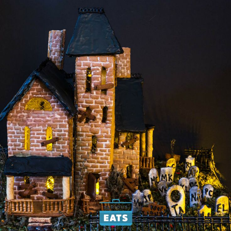 How it's decorated is more a matter of patience than of skill, and there's nothing wrong with simply bedazzling it with your favorite Halloween candies. But you don't need my help for a project like that, so here are my best tips and tricks for making a gingerbread house all the more spook-tacular.