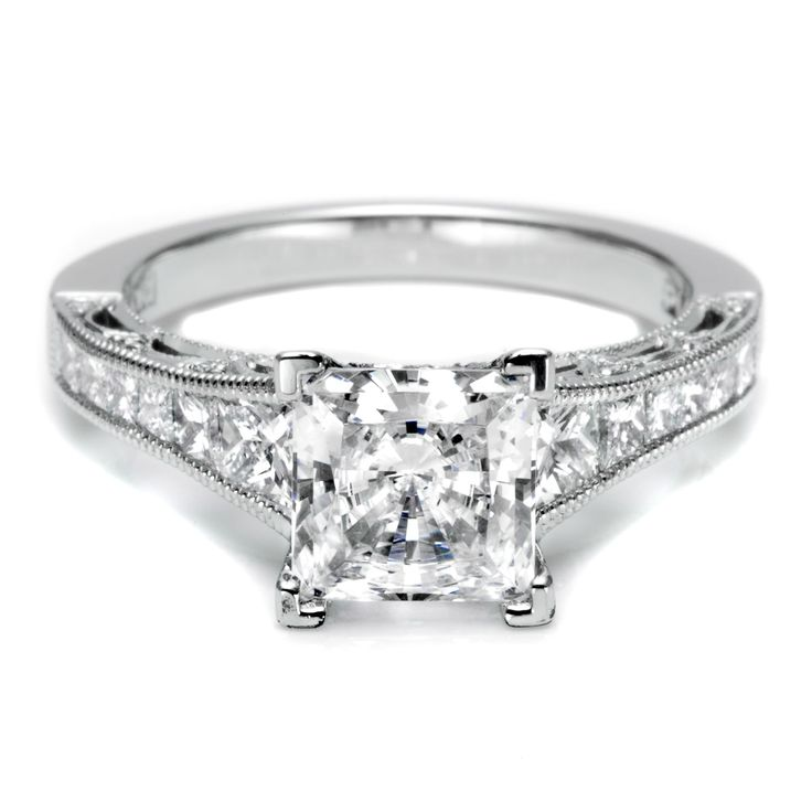 107 best Princess Cut Diamond Engagement Rings images on Pinterest