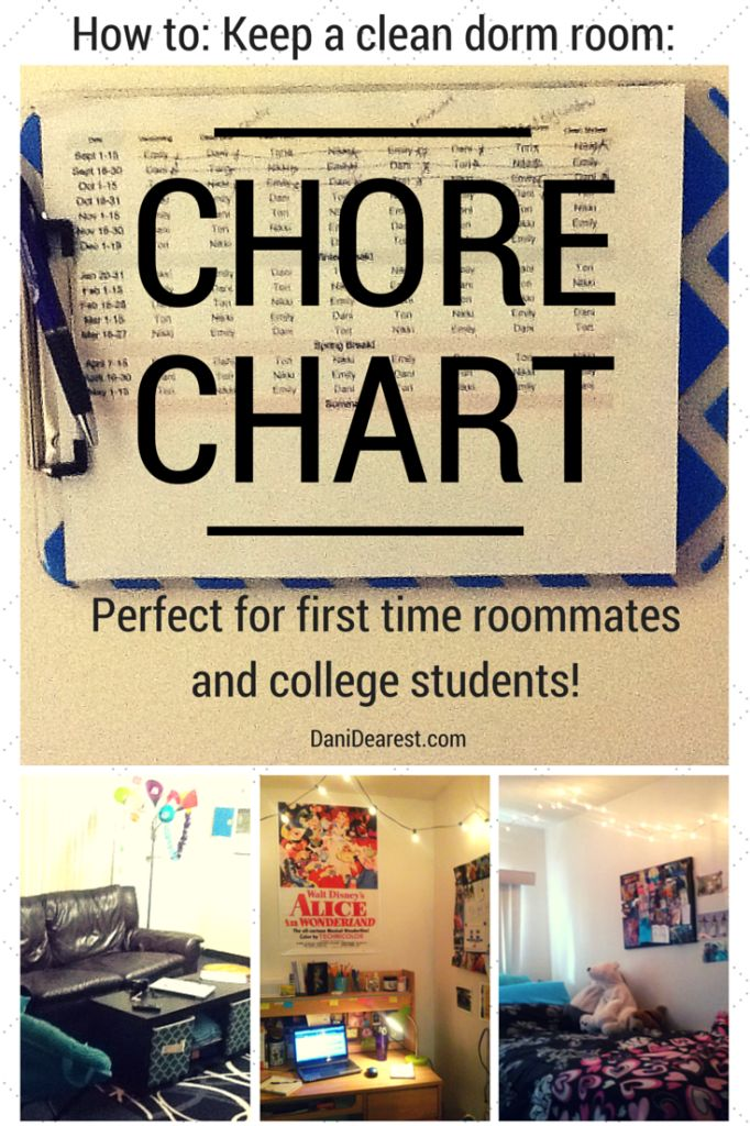 roommate chore charts