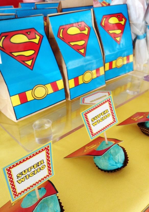 Mesa De Dulces Superman Fiestas Infantiles