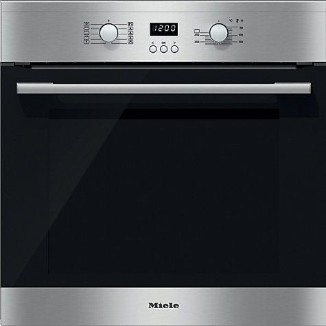 Buy Miele H2361B ContourLine Single Electric Oven, Clean Steel Online at johnlewis.com 700 pounds