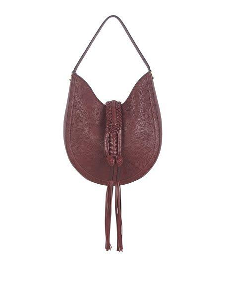 ALTUZARRA Ghianda Small Leather Hobo Bag, Red. #altuzarra #bags #shoulder bags #hand bags #leather #hobo #