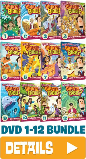 """A DVD series by Veggie Tale Creator Phil Vischer that your kids are sure to like. """"Buck Denver"""" What's In The Bible""""."""