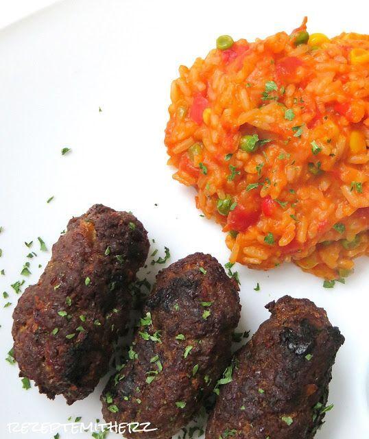 Rezepte mit Herz   ♥: Cevapcici mit Djuvec Reis