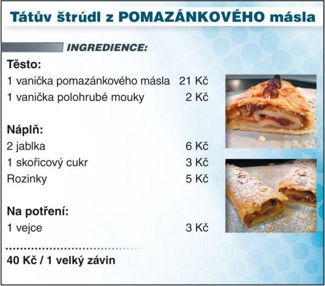 Levně a chutně s Ladislavem Hruškou - Tátův štrúdl z POMAZÁNKOVÉHO másla