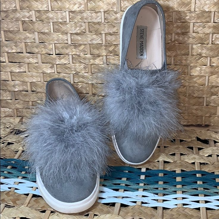 Emily Madden: Steve Madden Emily Gray Suede Feather