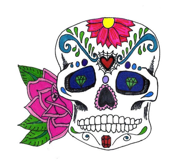 Print of Original Sharpie Marker Art Tattoo Skull by SeaMySoul