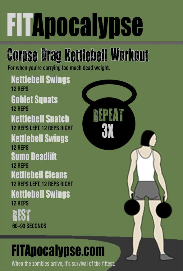 Kettlebell workout for the zombie apocalypse! #kettlebells #workouts #fitness #zombies
