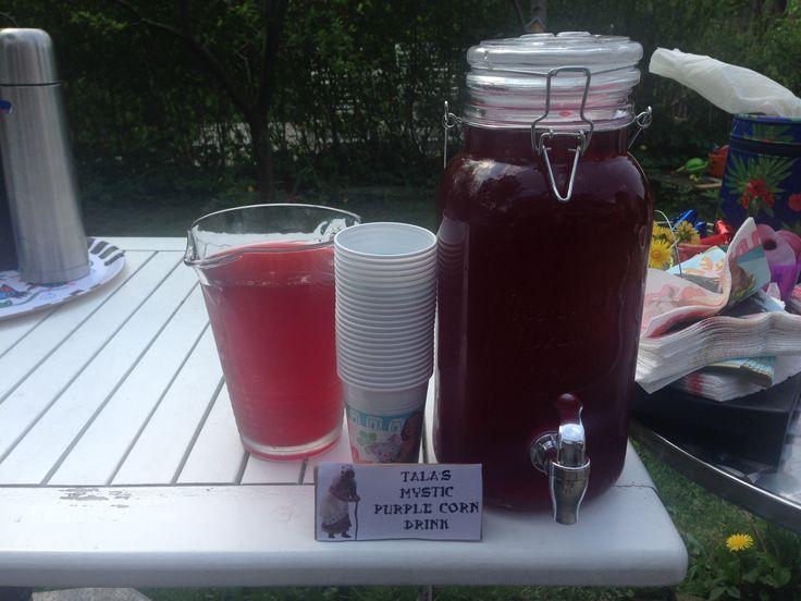 """Chicha morada""  Peruvian Purple Corn Beverage"