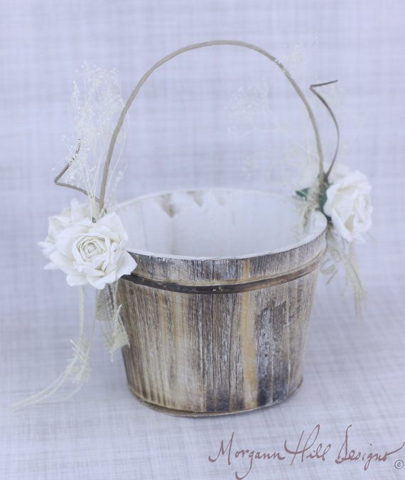 Hey, I found this really awesome Etsy listing at http://www.etsy.com/listing/124319769/rustic-flower-girl-basket-paper-roses