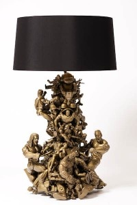 Another creative use of old action figures made into this lamp. Who knew?