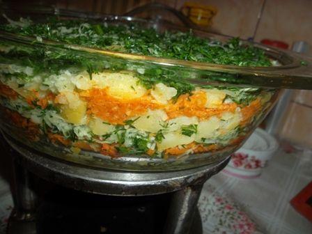 Salata de ridiche neagra cu cartofi