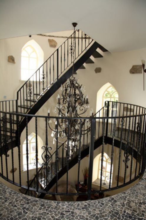 Winding staircase in a castle in Ireland! Also, a must have
