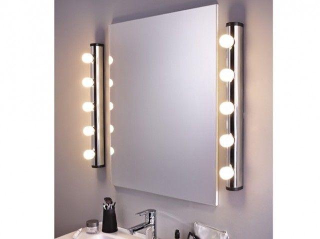 miroir salle de bains rampes clairage leroy merlin - Appliques Electrique Avec Interrupteur Aubade