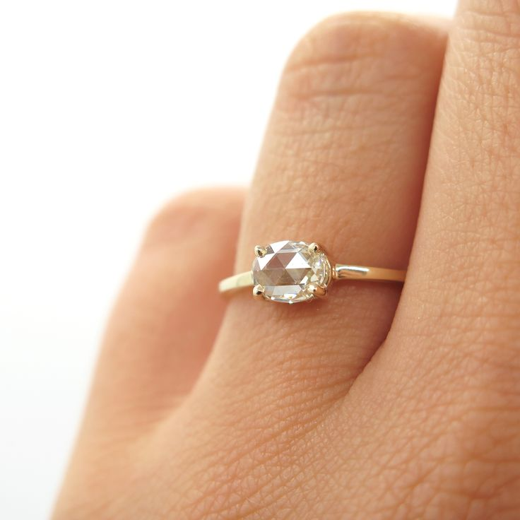 Cognac oval rose cut diamond ring | Dear Rae | Commission   #DearRae #DearRaeJewellery #EngagementRing #RoseCut