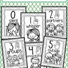 Black and white posters to help you teach your class about voice levels throughout the school day.  {color code by running on colored paper}    Kee...