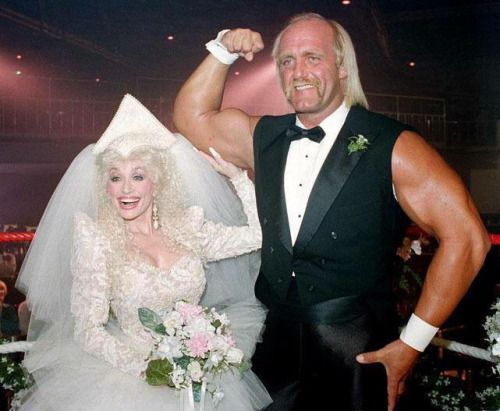 Dolly and Hulk Hogan on her Dolly Show in 1987