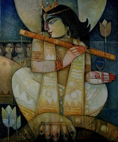 Arun Kumar Samadder - Kalia Daman (via Arun Kumar Samadder: Buy Original Indian Contemporary Art at IndianArtCollectors)