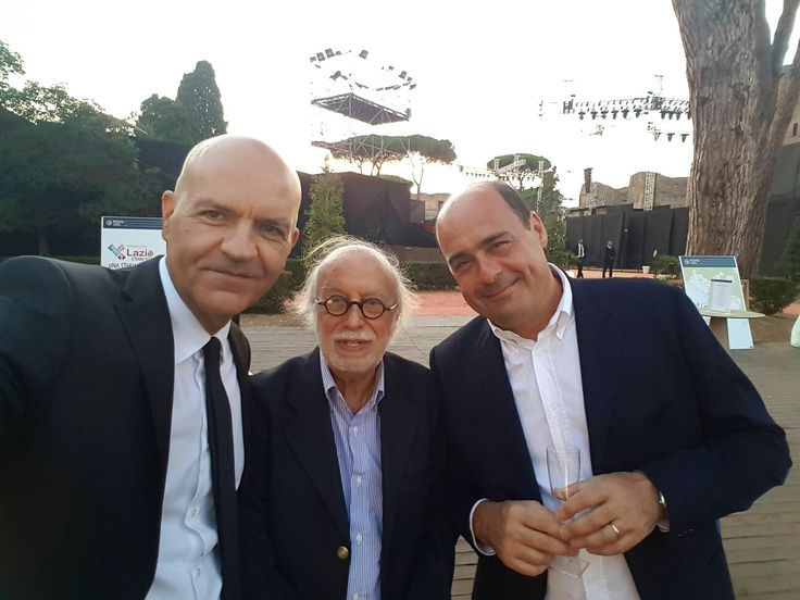 Marco Eugenio Di Giandomenico, Nicola Zingaretti and Adriano Pintaldi at the film INDIPENDENCE DAY REGENERATION preview  (Rome, August 7, 2016)