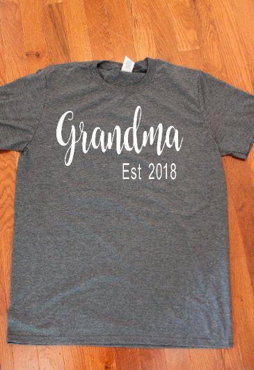 6e79c173 Mother's Day Shirt, Grandma Shirt, Pregnancy Announcement, Blessed Grandma  shirt, Blessed Nana Shirt, Established shirt, Grandmother Shirt   Albright  ...