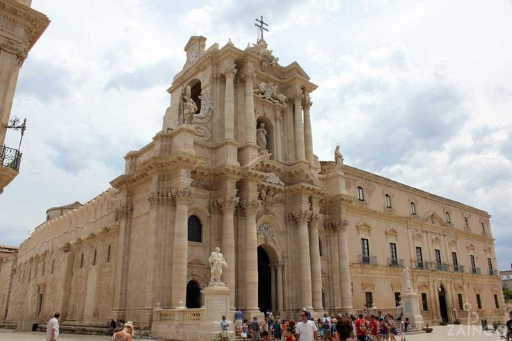 Cathedral of Santa Maria delle Colonne, the temple of Athena in Syracuse, Italy. ©ZAINOO