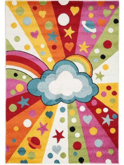Noa Universe Kids Rug Multicolour