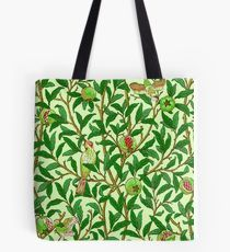 Art Nouveau Bird and Pomegranate, Lime Green Tote Bag