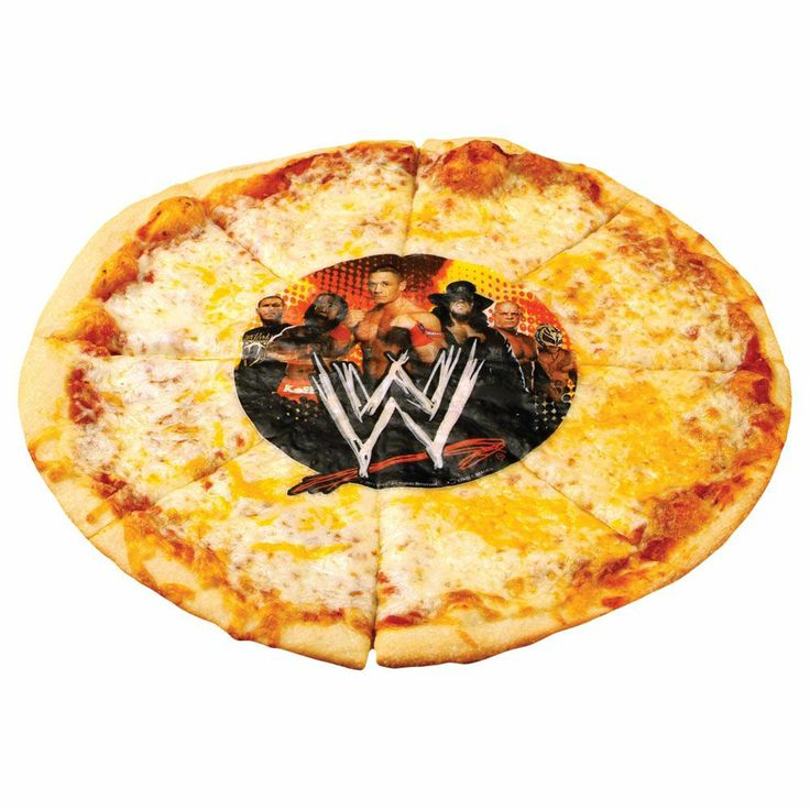 WWE Pizza Prints are edible designs for pizza, made of starches and food  colors.