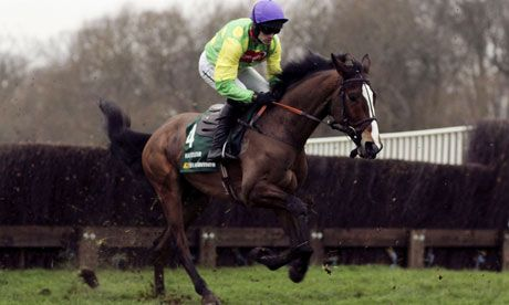 Kauto Star at Kempton, where he won five King George VI Chases, one more than the previous record, set by Desert Orchid. Photograph: Julian Herbert/Getty Images