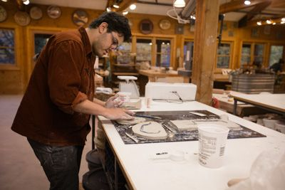 Fall 2014 Artist-in-Residence Daniel Greenberg, Print, Anderson Ranch Arts Center in Aspen/Snowmass, CO. #Print #Art #RanchMade #AndersonRanch #Aspen #Snowmass