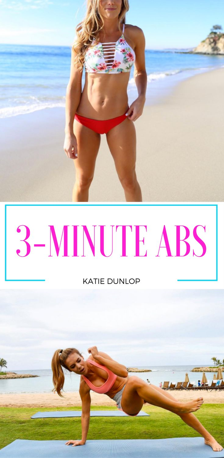 Super 3-Minute Abs Workout by Katie Dunlop @lovesweatfitness ... TRY IT!