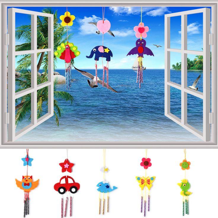 Rompecabezas juguetes para niños diy viento carillones campanas eólicas rompecabezas educativos juguetes kits de artesanía ao # p