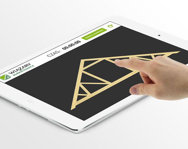 Zabawa układania wiązara na tablety z Android oraz iPad. #mobile_application #mobile_app_design #android #iOs #ios_app #ios_app_design