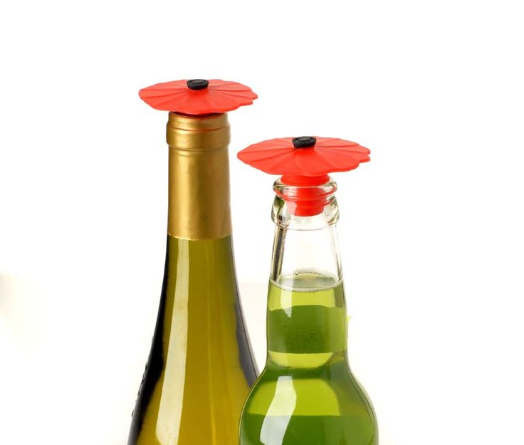 Poppy bottle stoppers