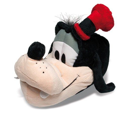 SAMs Tierhausschuhe Disney Goofy Kinder Hausschuhe lustig witzig warm, Goofy, Größe 29/31